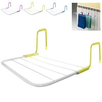 Сушилка (сушка) для белья и вещей (одежды) складная навесная на батерею и балкон 50x30см Stenson (R83558)