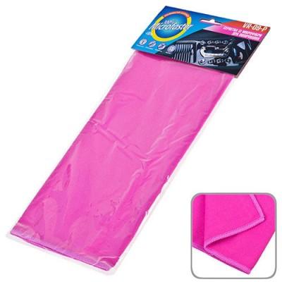 Автомобильная салфетка микрофибра для полировки стекол 40х30см розовая (VR-09-P)