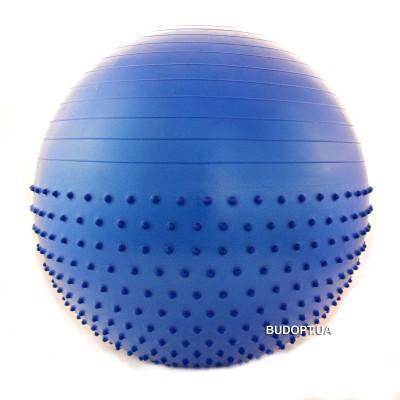 Мяч (фитбол) для фитнеса полумассажный 2 в 1 OSPORT 85 см (FI4437-85)