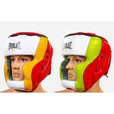 Шлем боксерский (с полной защитой) кожа ELAST МА-011