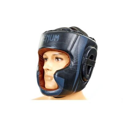 Шлем боксерский (с полной защитой) кожа VENUM BO-5239