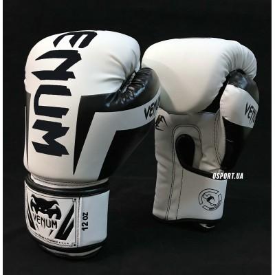 Перчатки боксерские PU на липучке VENUM BO-5698 (8, 10, 12, 14 унций)