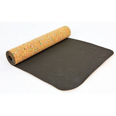 Коврик (мат) для йоги и фитнеса пробковый двухслойный 173х61х0.5см OSPORT (FI-6977)