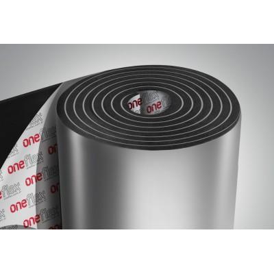Вспененный каучук фольгированный 19мм с липким слоем