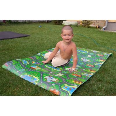 Детский развивающий игровой коврик OSPORT Автодорога Приключений Большая (FI-0072)