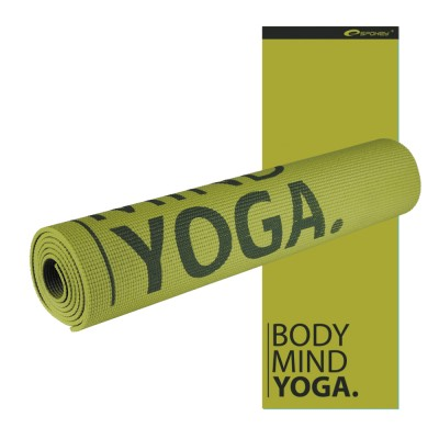 Мат для йоги и фитнеса SPOKEY Satya зеленый, 4мм
