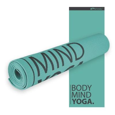 Мат для йоги и фитнеса SPOKEY Satya бирюзовый, 6мм