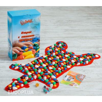 Детский ортопедический (массажный) коврик с камнями Медведь