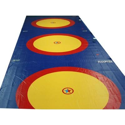 Борцовский ковёр для борьбы, дзюдо 10х10м, толщина 40мм