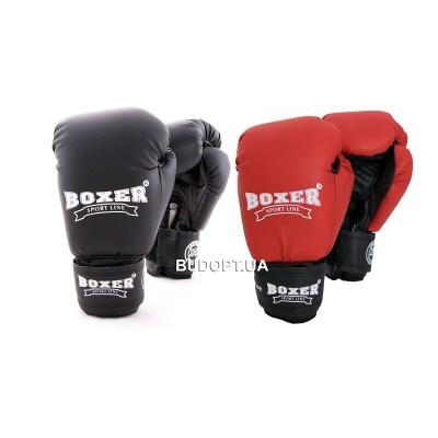 Детские боксерские перчатки Boxer 6 унций, кожвинил