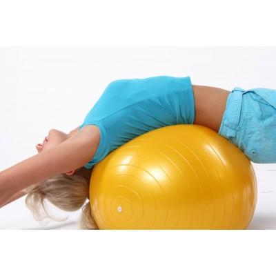 Мяч для фитнеса (фитбол) Profitball 65 см (глянец, в пакете)