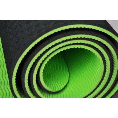 Коврик (йога мат) для фитнеса и йоги Zelart TPE+TC 6мм