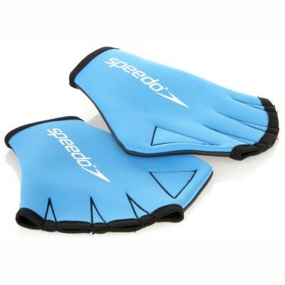 Перчатки для аквафитнеса Speedo Aqua Glove синие, р-р L