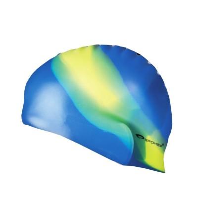 Силиконовая шапочка для купания Abstract Spokey 83949 желто-голубая