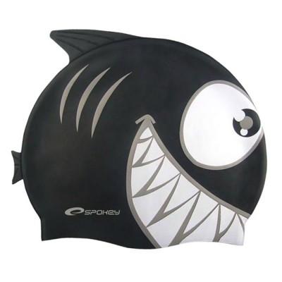 Шапочка для купания детская Spokey Rekinek, черная
