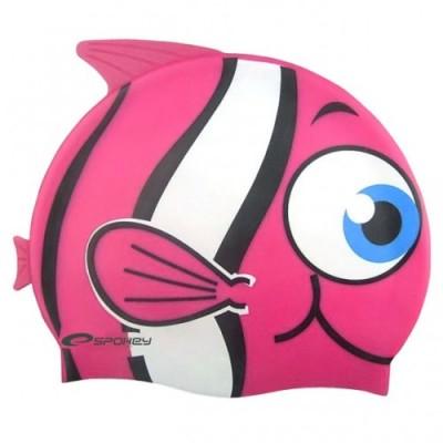 Шапочка для купания детская Spokey Rybka, розовая