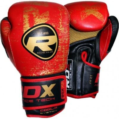 Боксерские перчатки RDX Ultra Gold Red