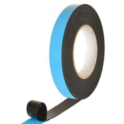 Скотч двухсторонний PE черный 1мм*25мм*10м Stenson (MH-0973)