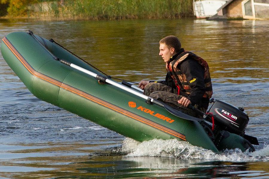 Надувная лодка для рыбалки Kolibri