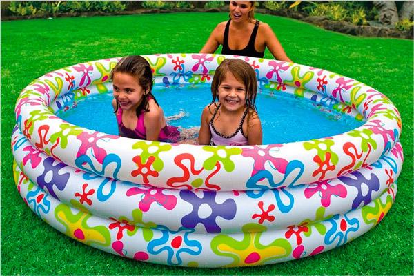 Польза надувного бассейна для ребенка