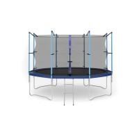 Батут с лестницей Hop-Sport 12FT (366 см) с внутренней сеткой