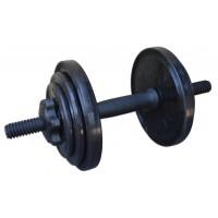Гантель разборная черная InterAtletika 8,82 кг