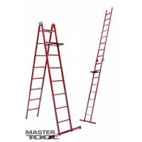 Лестница универсальная Mastertool 79-1016, 6 ступеней со столиком