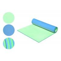 Коврик (каремат) для туризма и фитнеса двухслойный (D-2118-bl-green), 8мм
