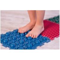 Детский массажный коврик пазл для стоп (ортопедический, резиновый) 10 шт