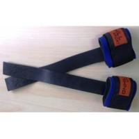 Лямки для турника, тяги и штанги (кистевые ремни) кожаные с фиксатором Onhillsport