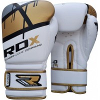 Боксерские перчатки RDX Rex Leather Gold/Red
