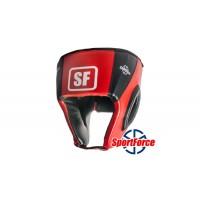 Боксерский шлем SportForce, кожзам SF-HG01