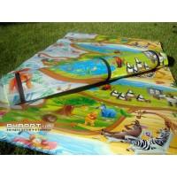 Детский игровой развивающий коврик Мадагаскар 180x60см