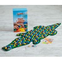 Детский ортопедический (массажный) коврик с камнями Крокодил