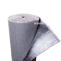 Теплошумоизоляция из вспененного полиэтилена (ППЭ НХ) 8мм с липким слоем +фольга