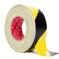Сигнальная лента-скотч (48мм, 33пог.м желто-черная)