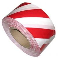 Сигнальная лента-скотч (48мм, 33пог.м бело-красная)