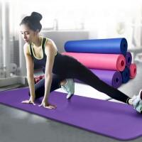 Коврик-Мат для йоги и фитнеса Hop-Sport 1.5 см из вспененного каучука (NBR)
