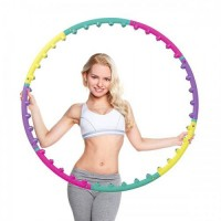 Обруч массажный Hop-Sport 6008 c шариками (hula hoop)