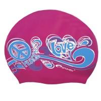 Силиконовая шапочка для плавания Spokey Stylo, розовая