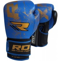 Боксерские перчатки RDX Ultra Gold Blue