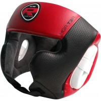 Боксерский шлем RDX Rex Leather Red