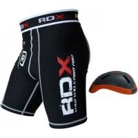 Шорты MMA компрессионные RDX с ракушкой Сarbon
