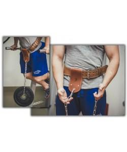 Ремешок кожаный для отягощения на пояс Onhillsport