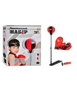 Детский боксерский набор на стойке (груша напольная с перчатками для детей) M1073