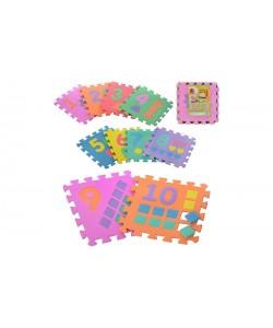 Детский игровой развивающий коврик-пазл (мозаика головоломка) М 0375 Profi 10шт. толщина 9мм