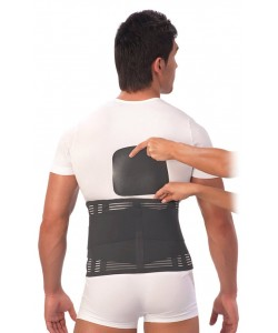 Корсет ортопедический пояснично-крестцовый с моделируемыми ребрами жесткости, 3D вязка Т-1557