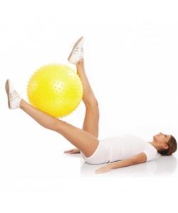 Гимнастический мяч с игольчатой поверхностью 55 см M-155