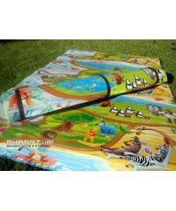 Детский игровой развивающий коврик Мадагаскар 120x150см