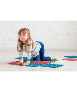 Детский массажный коврик пазл для стоп (ортопедический, резиновый) 4шт